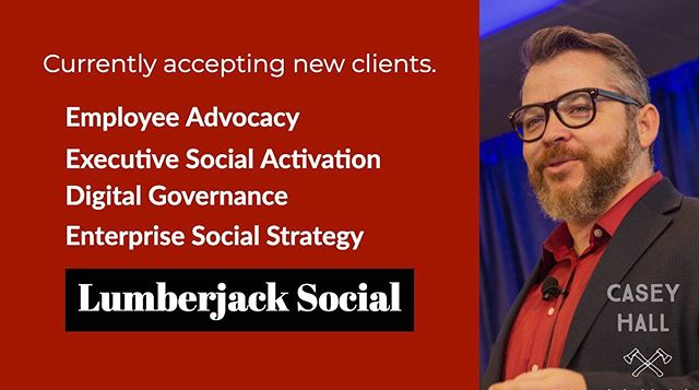If your 2019 #socialmedia plan includes growth, governance, or strategy, we would love to work with you.  info@lumberjack.social