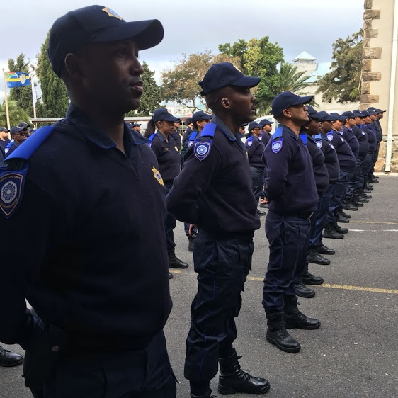 New railway cops on parade under Zille's beady eye - 12/09/2018