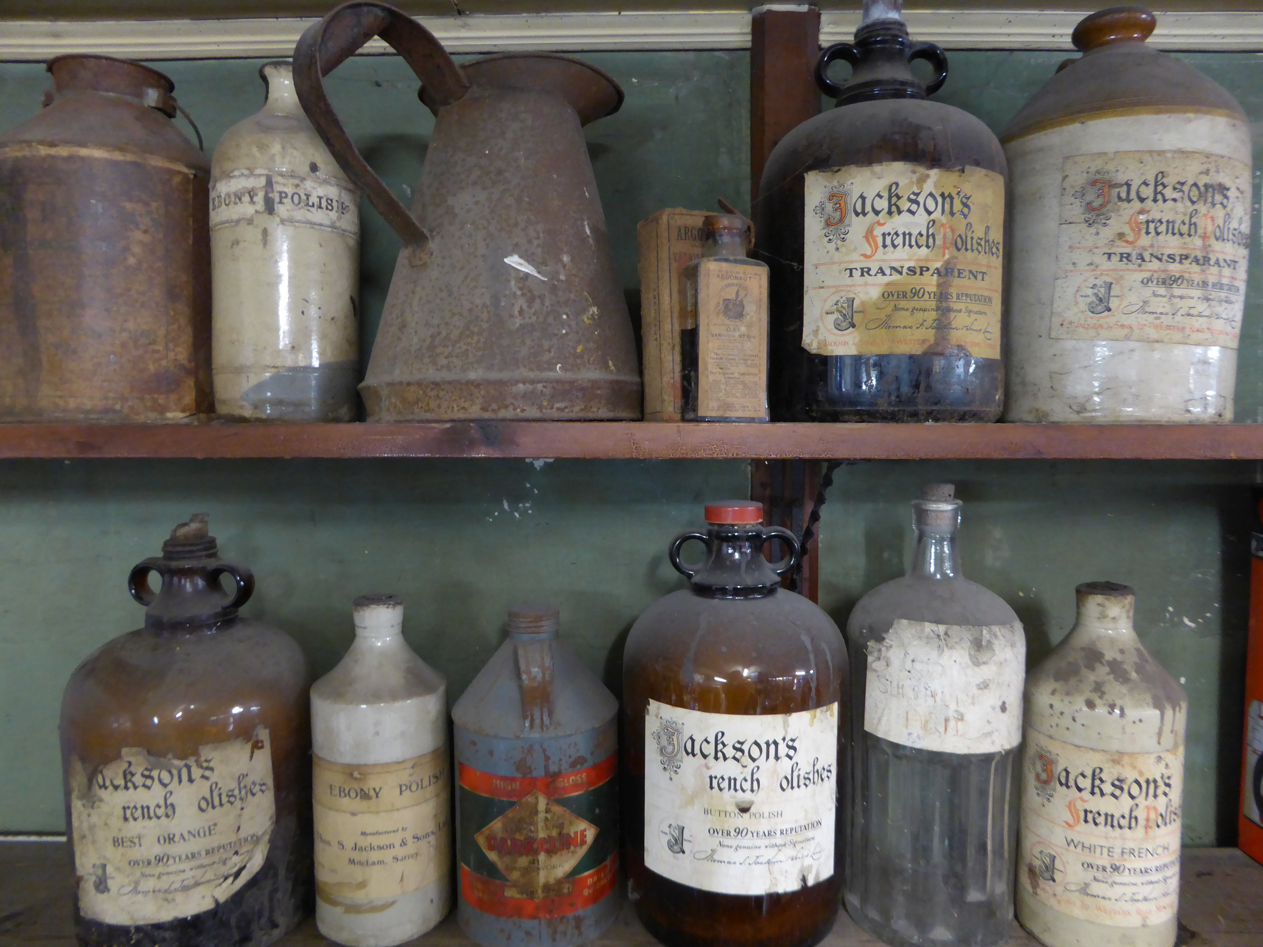 Old containers from across the years