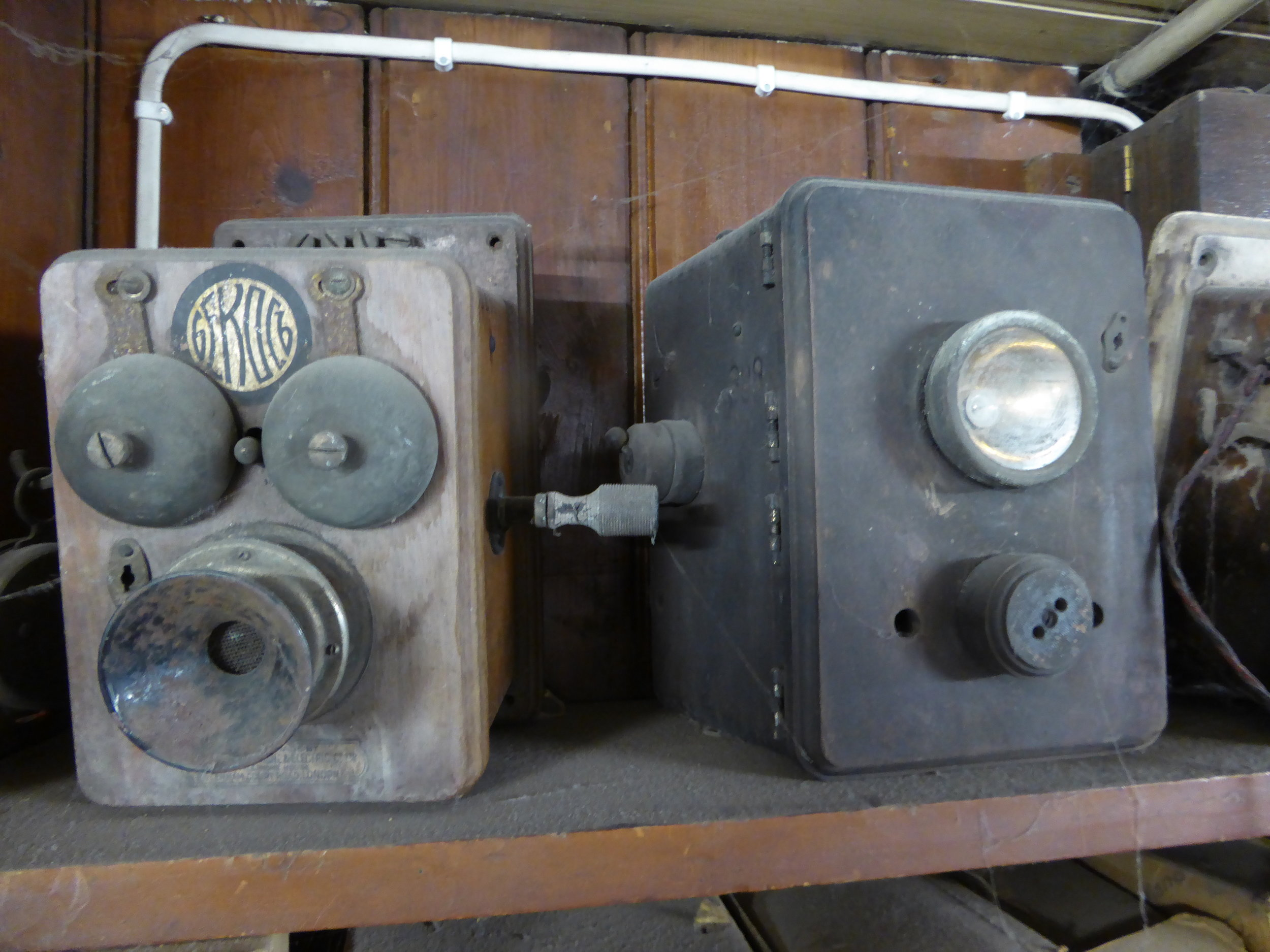 Old Telephones and torches
