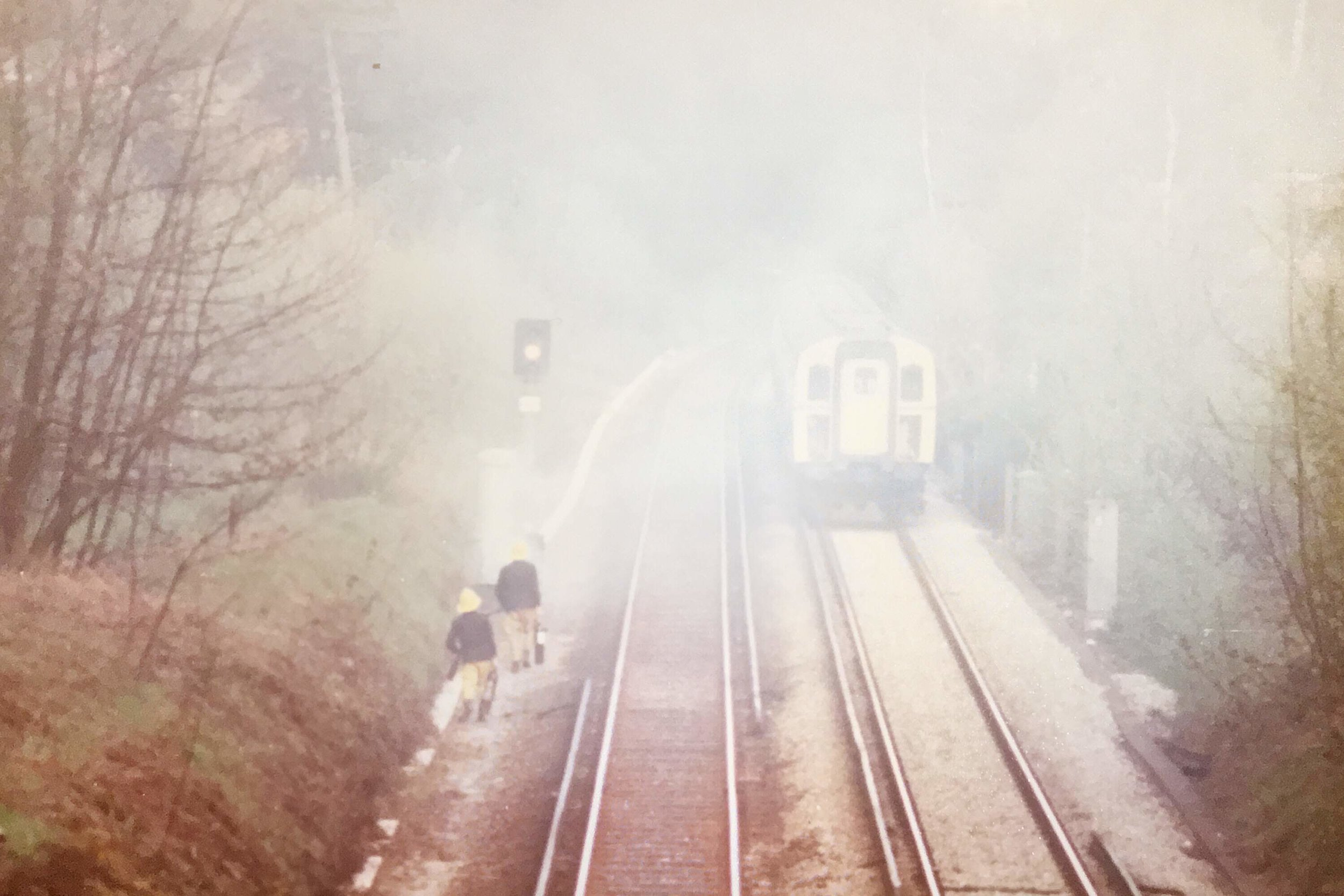 The railway line was halted