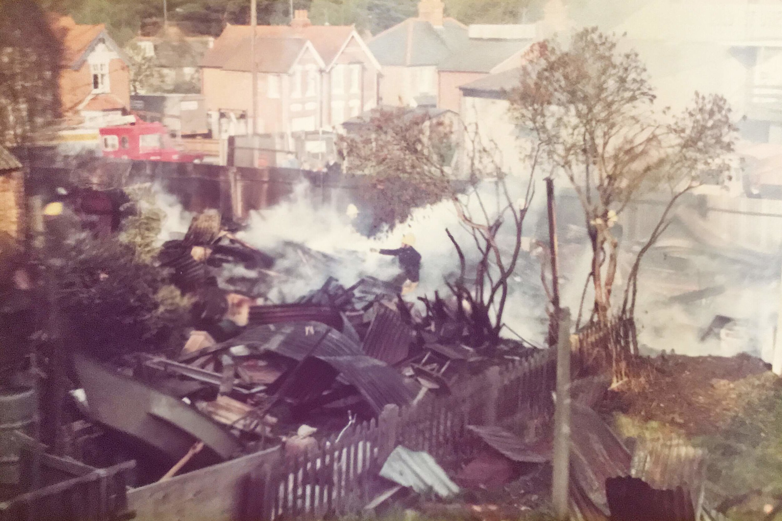 Destruction of the old yard