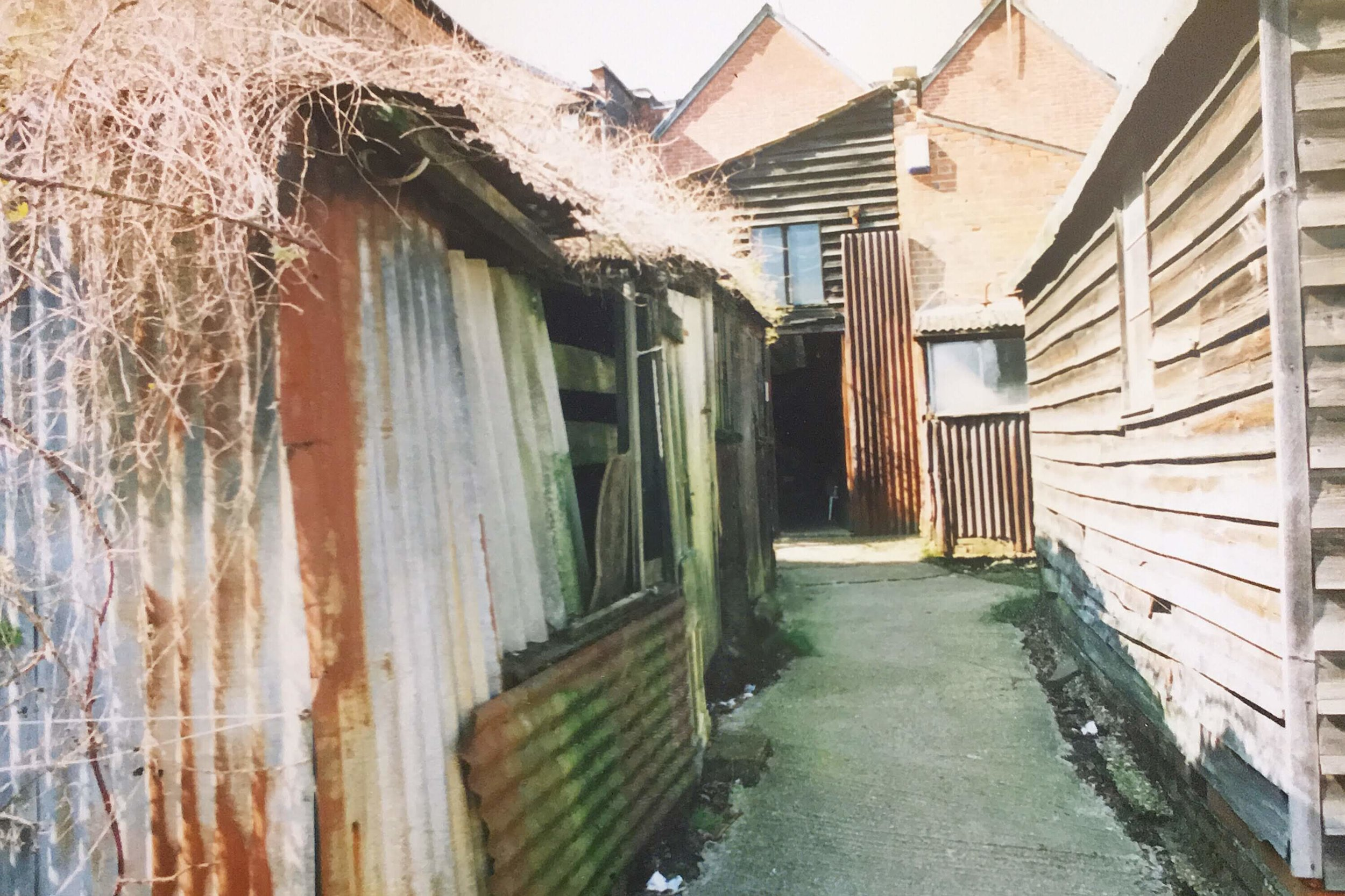 The old sheds in the yard including outside loo!