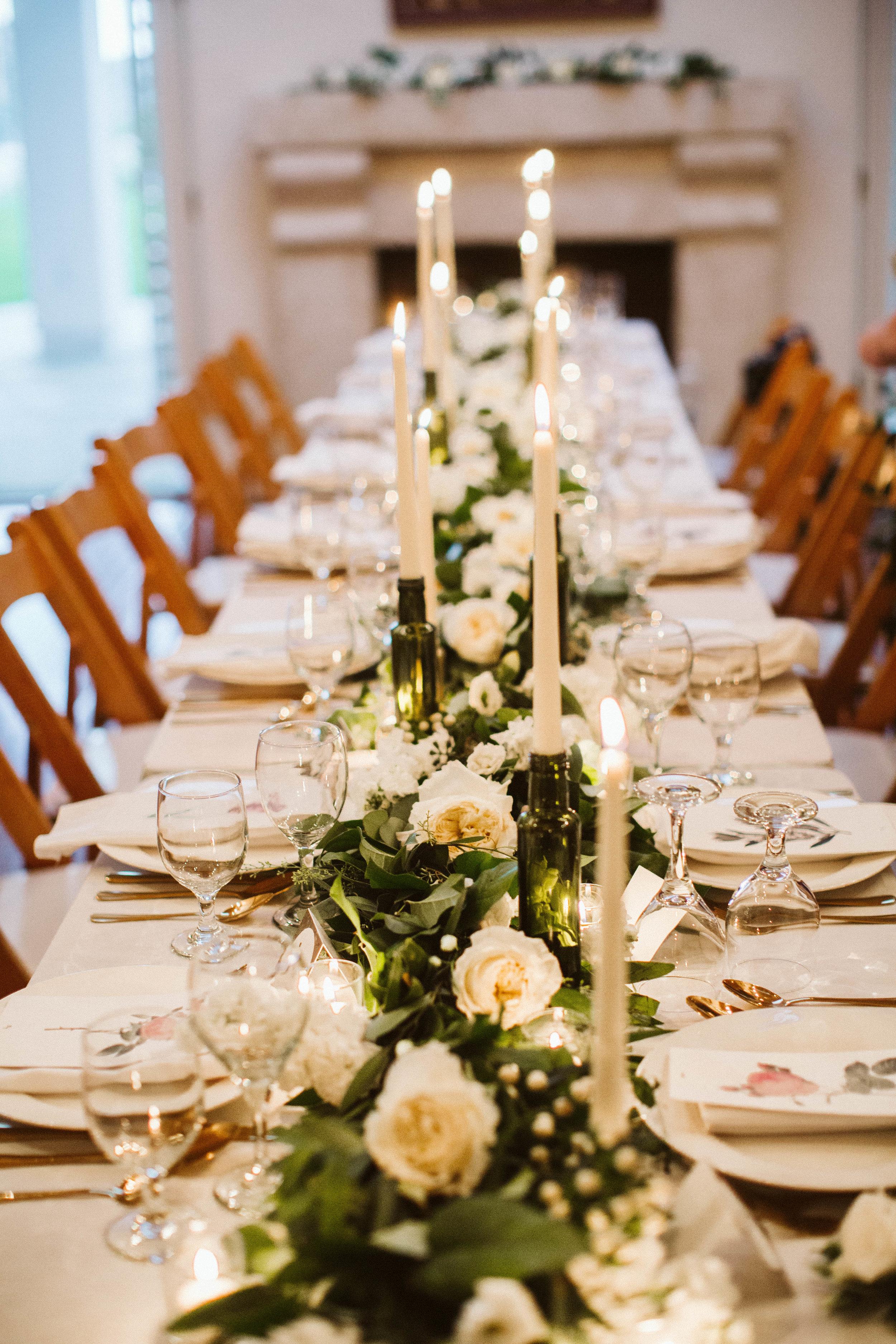 Tessa & Xavier's wedding dinner- Photo: Jessica Caballero Photo