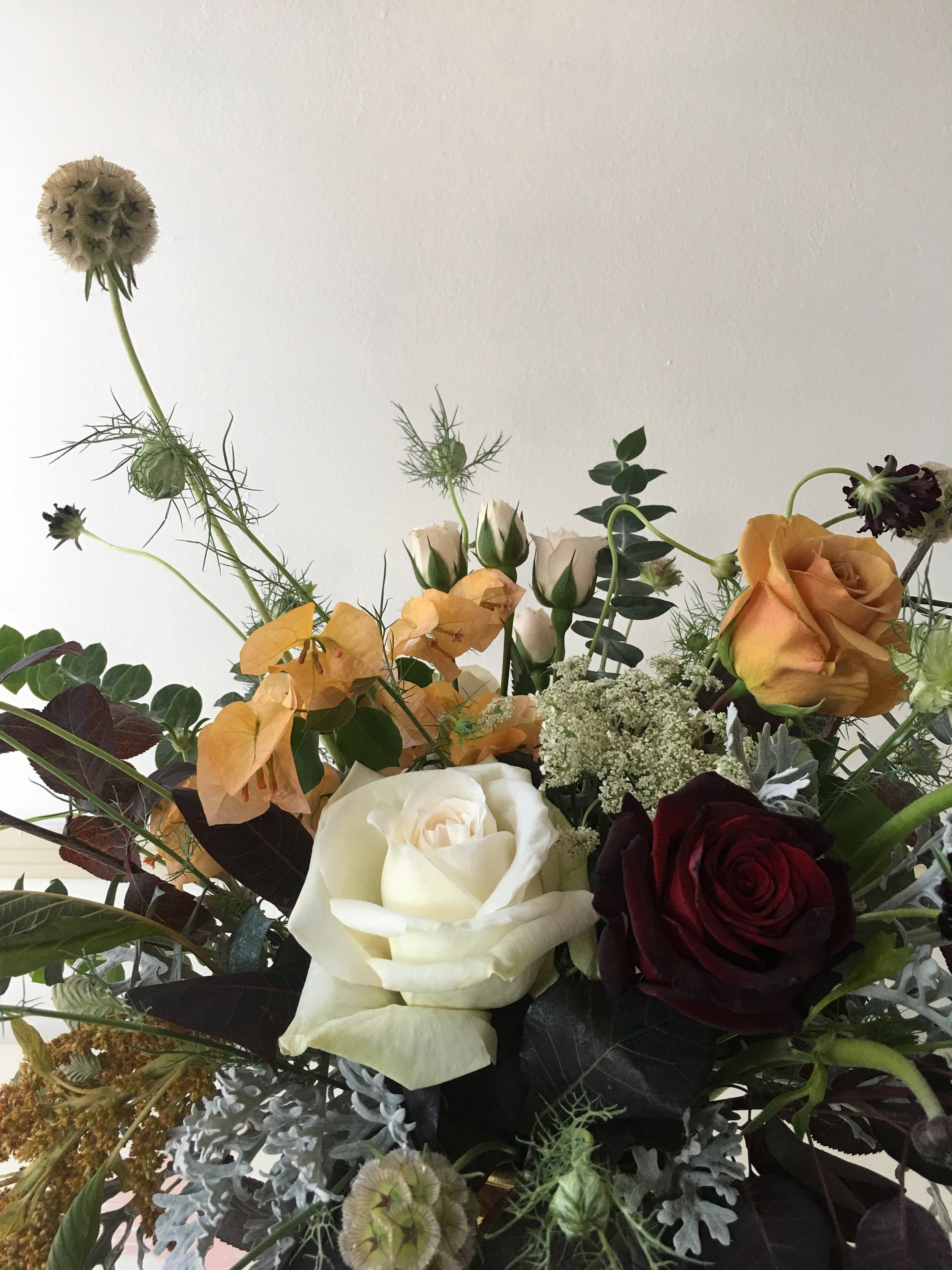 August wedding floral detail