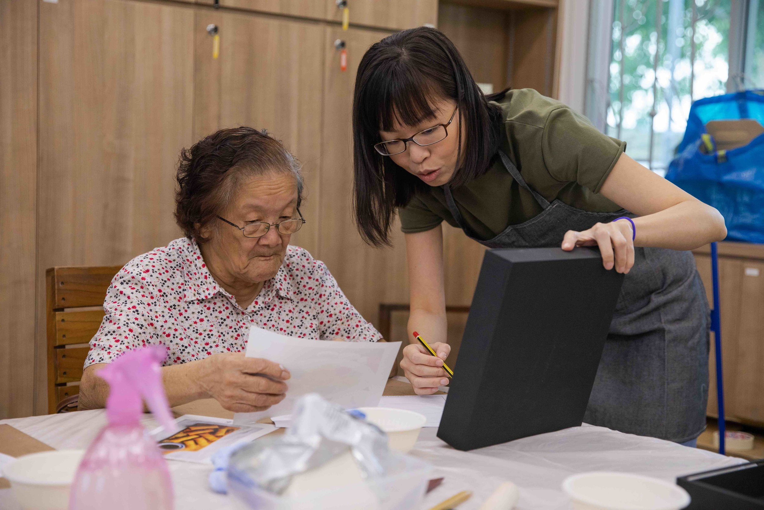 Artist : Cheryl Teo |  Community Partner : Geylang East Home for the Aged