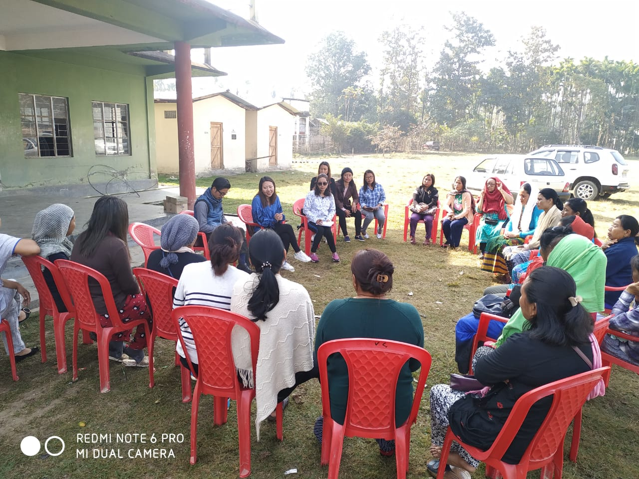Community Mobilization meeting with SHG members at Eralibil Village, Dimapur.