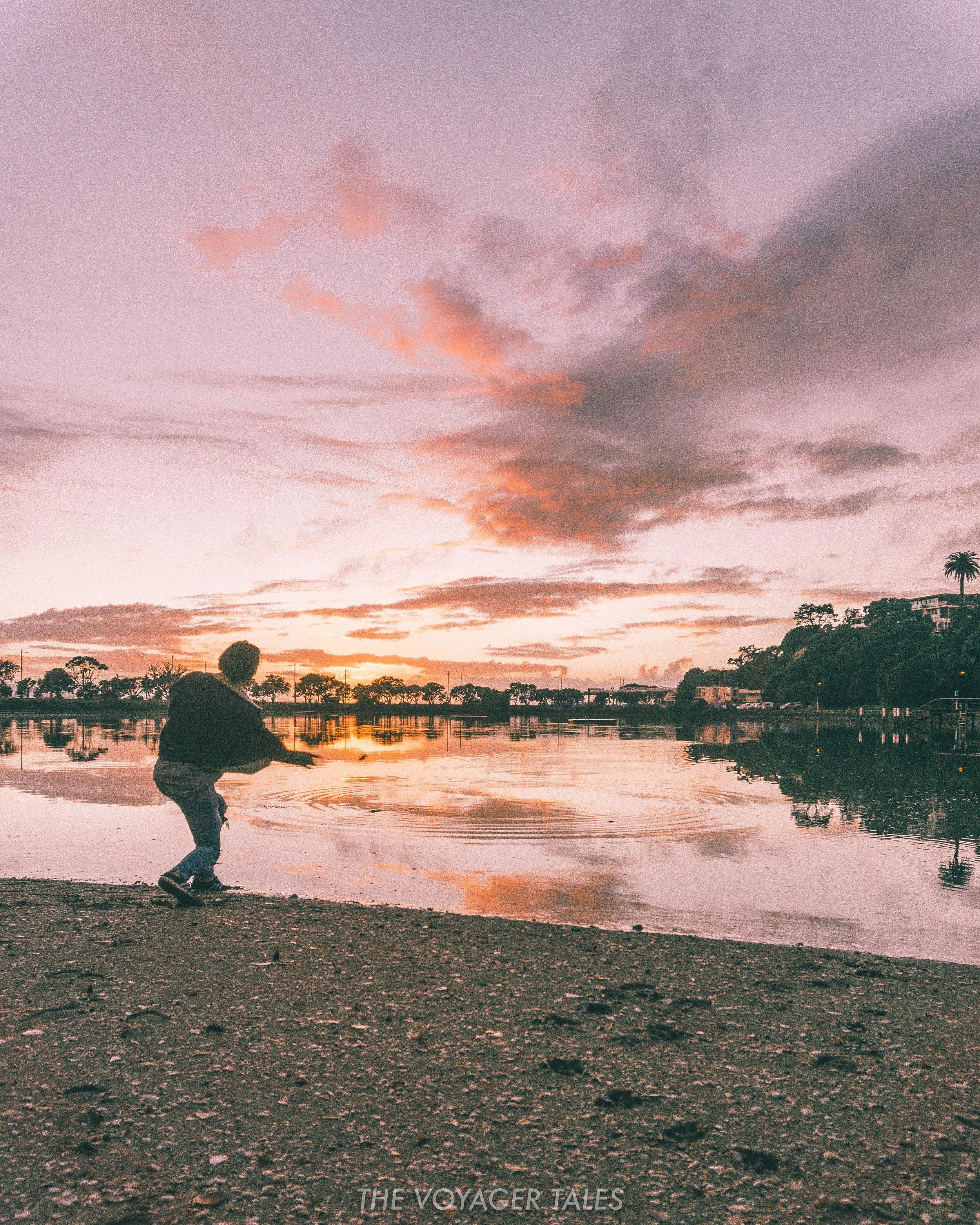 Sunrise in Auckland, New Zealand