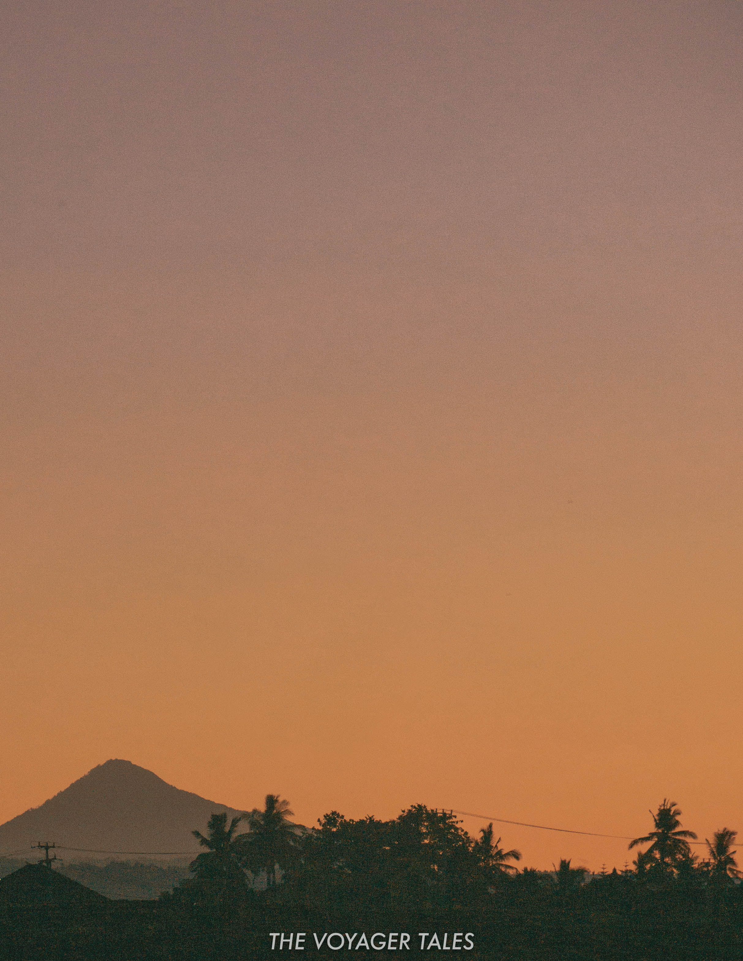 The view from the villa, Mt Batur at sunrise