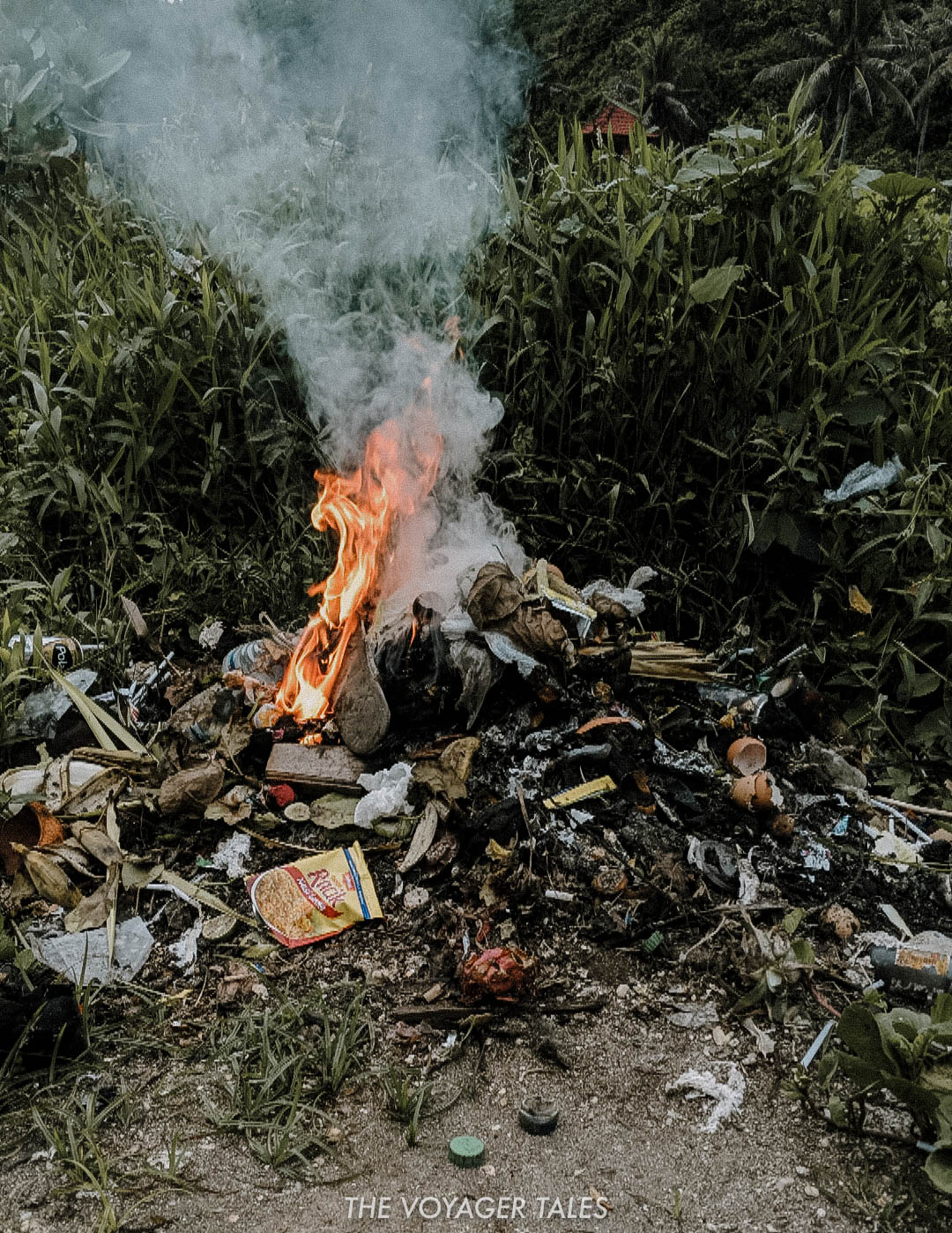 Without proper infrastructure in place to deal with the amount of trash produced, most locals resort to this, burning plastic and other waste. Yes, it 'gets rid of it', but the harmful chemicals produced in burning plastic are then released into the air we breath, creating more health and environmental issues.