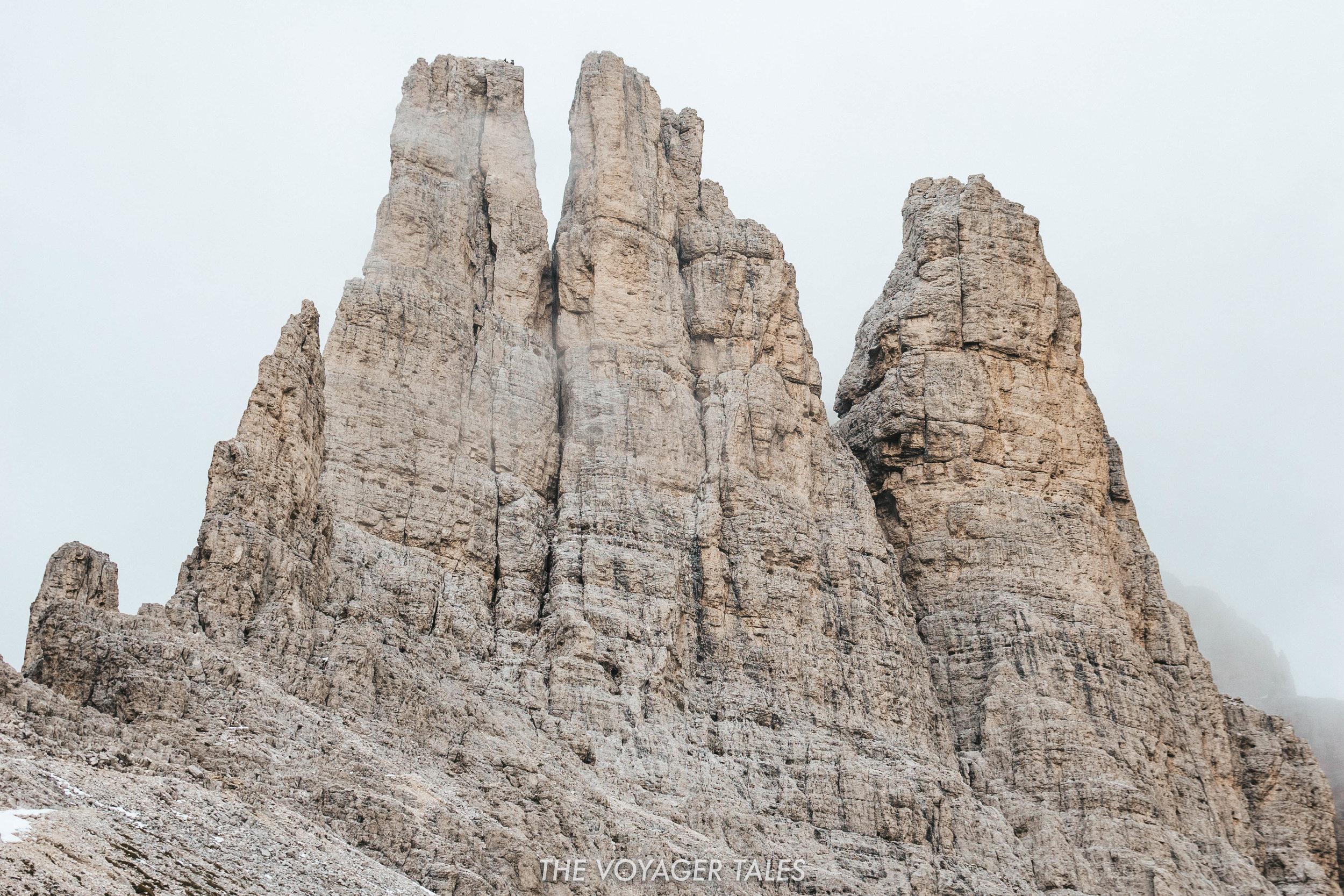 The Vajolet Towers from Rifugio Alberto