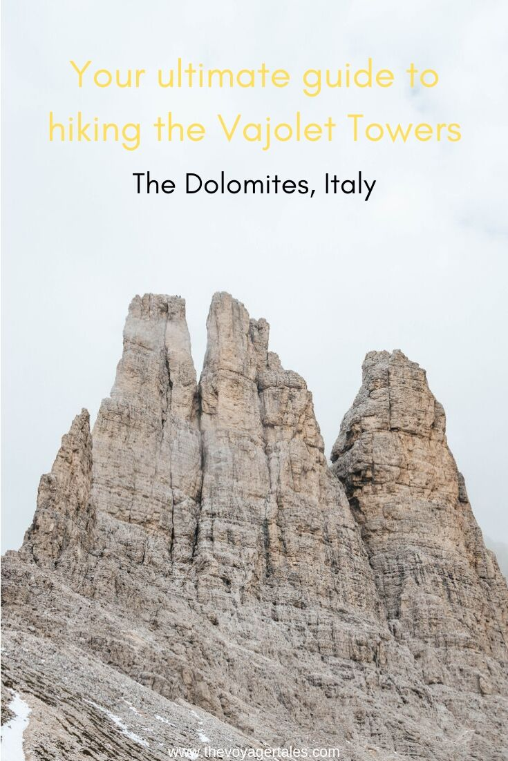 The Vajolet Towers hike guide pinterest pin