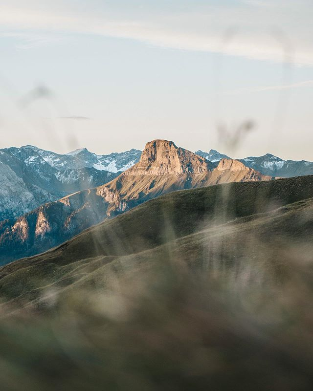 """In the pursuit of grand goals, being uncomfortable is inevitable. Embrace uncomfortable"" // BL  The first rays of sunrise hitting the peaks at Passo Sella, Italy."