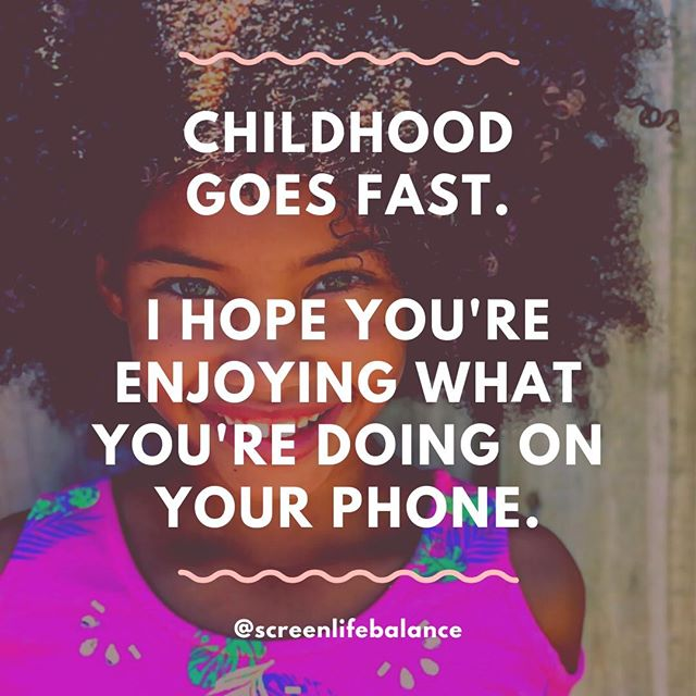 We all say that our kids grow too fast. So why are we spending so much of their childhoods staring down at our phones? . . . . . #childhood #parenting #monday #phonebreakup #mindfulliving #screenlifebalance #digitalwellbeing #mindfulness #scrollless #lifehack #digitaldetox #digitalminimalism #screenlife #lifeinbalance #liveinthemoment #enjoylife #mindfultech #screentime #happiness #mindfultech #screentime #screenlife #enjoylife
