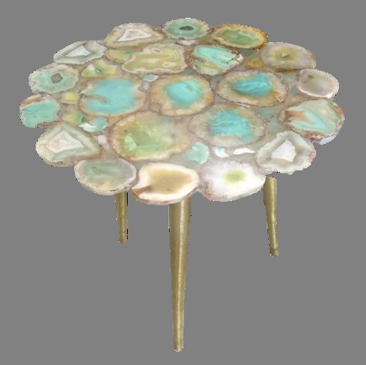 Flower Cute Aqua Agate Table