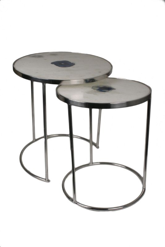 Marble and Agate Nesting Tables