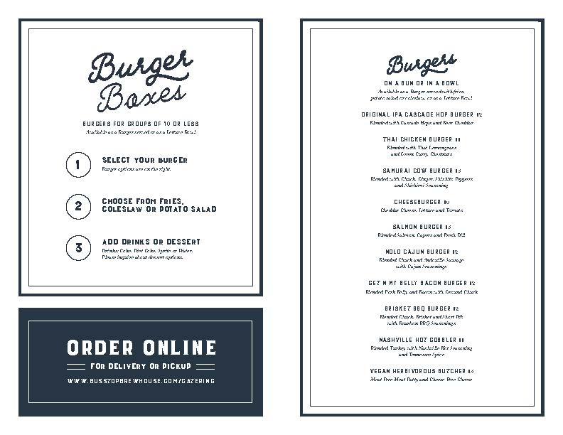 View Our Catering & Takeout Menu