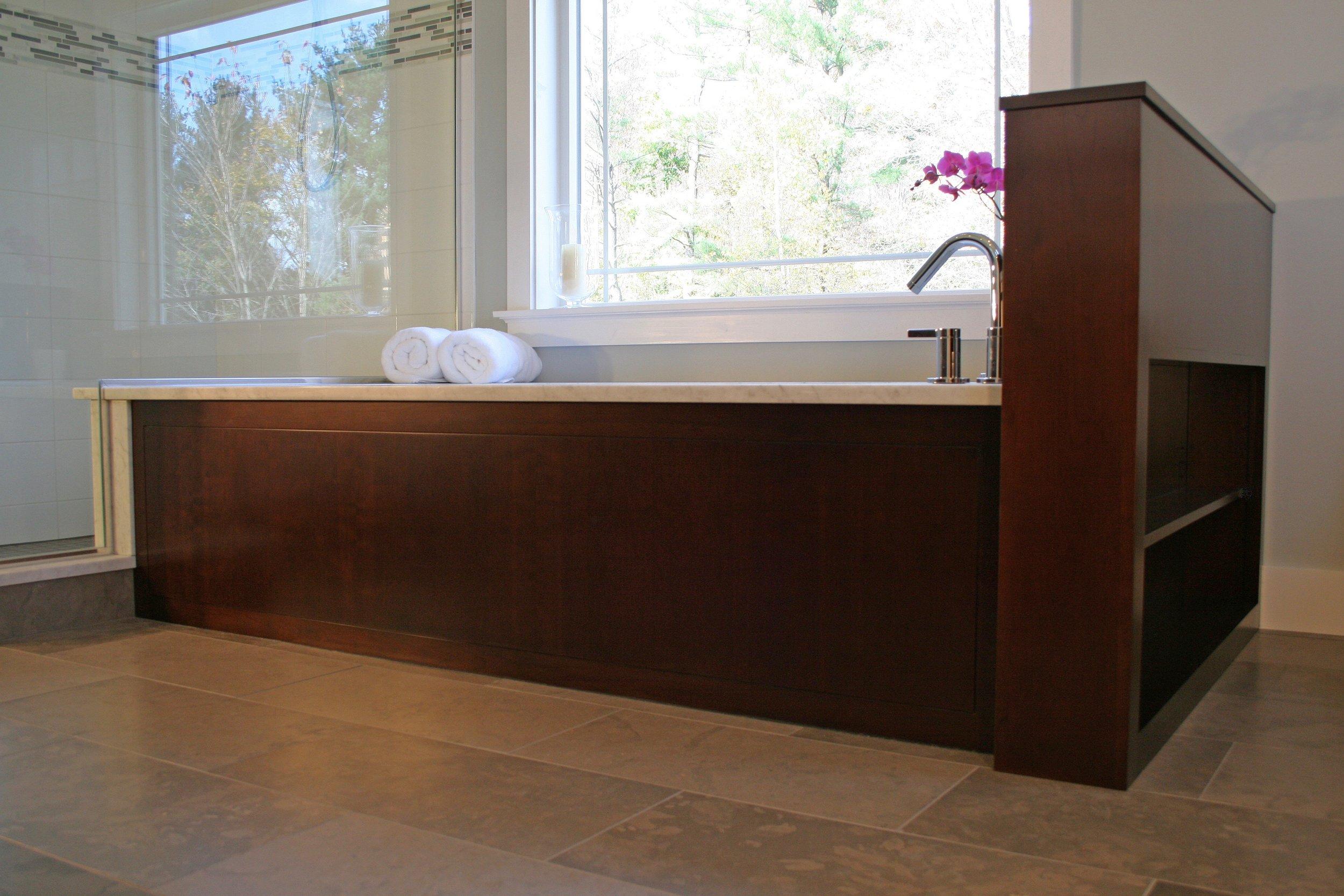 Contemporary Bathroom in Dark Cherry 3.jpg