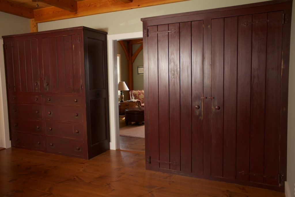 Painted and Weathered Pine Wardrobes with Barn Doors 1.jpg