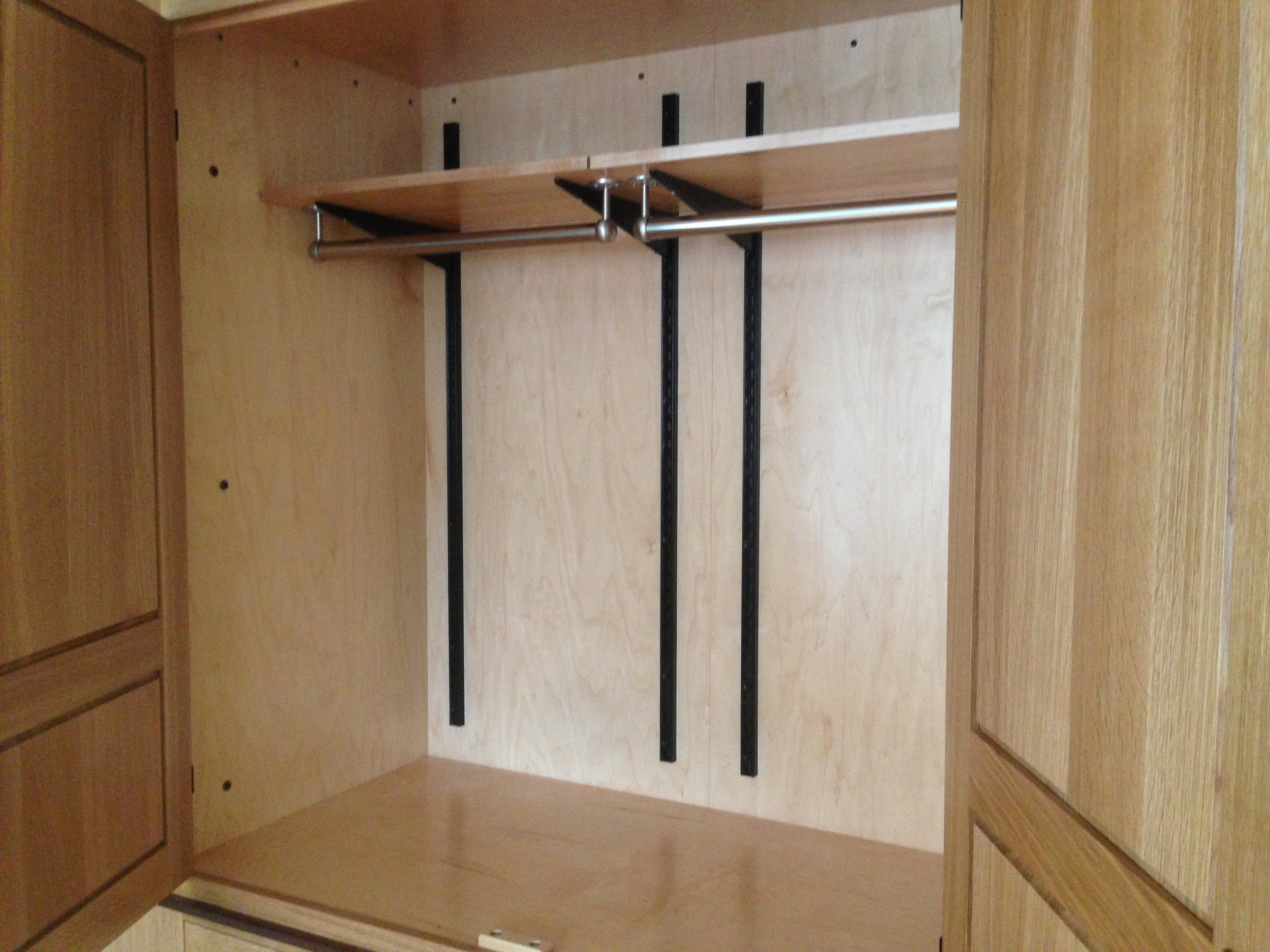 Rough Sawn Oak His:Hers Wardrobe with Walnut Accents 3.jpg