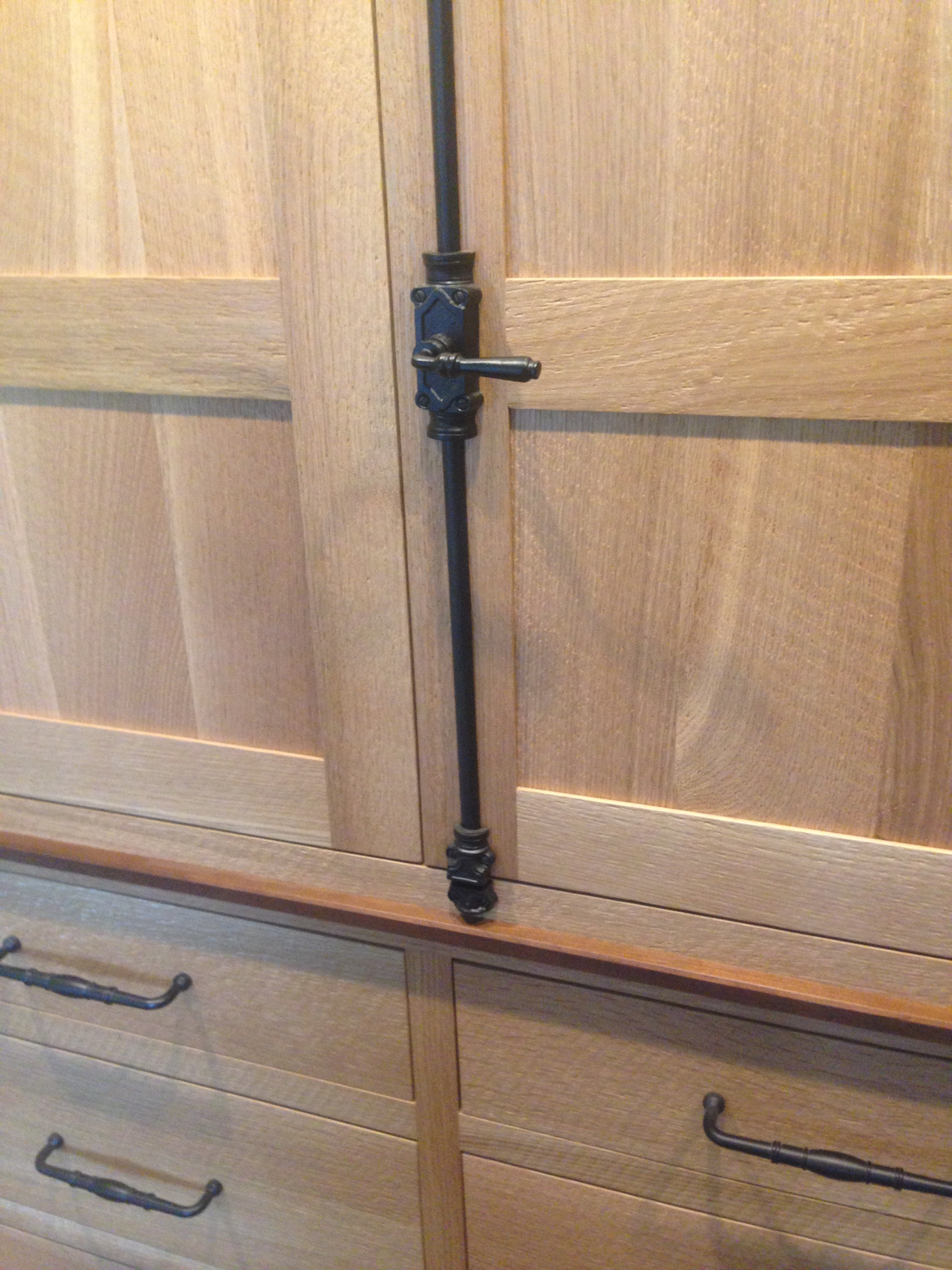 Rough Sawn Oak His:Hers Wardrobe with Walnut Accents 5.jpg