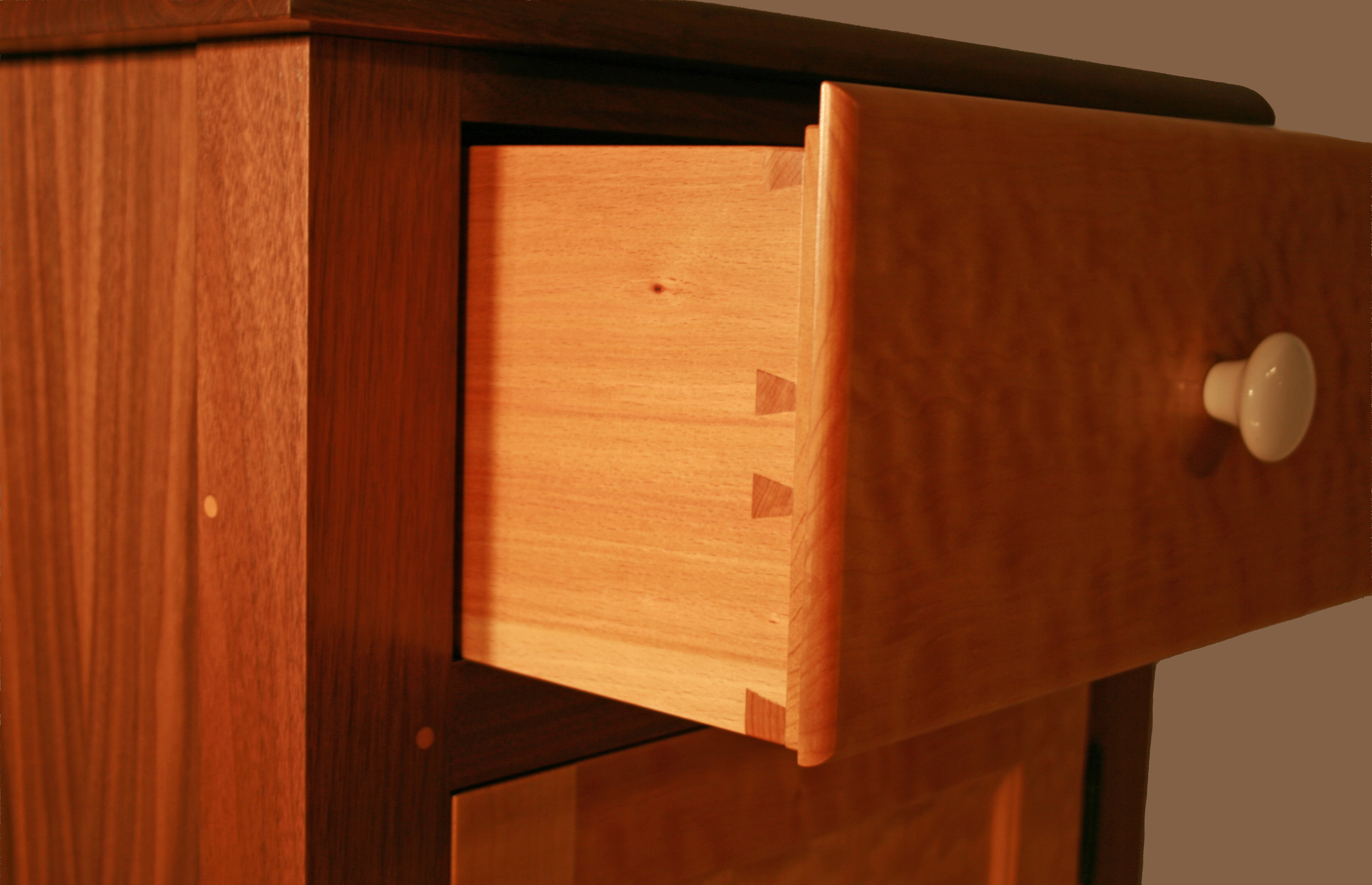Shaker Style Walnut and Quilted Maple O ffice Suite  13.jpg