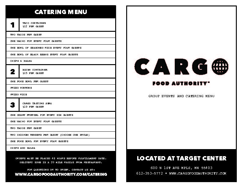View our Catering & Group Events Menu