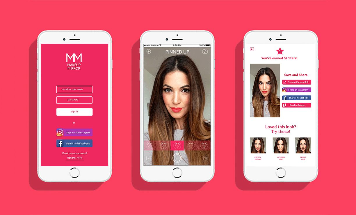 Login Page, Selfie Mode and Saving Filter Page