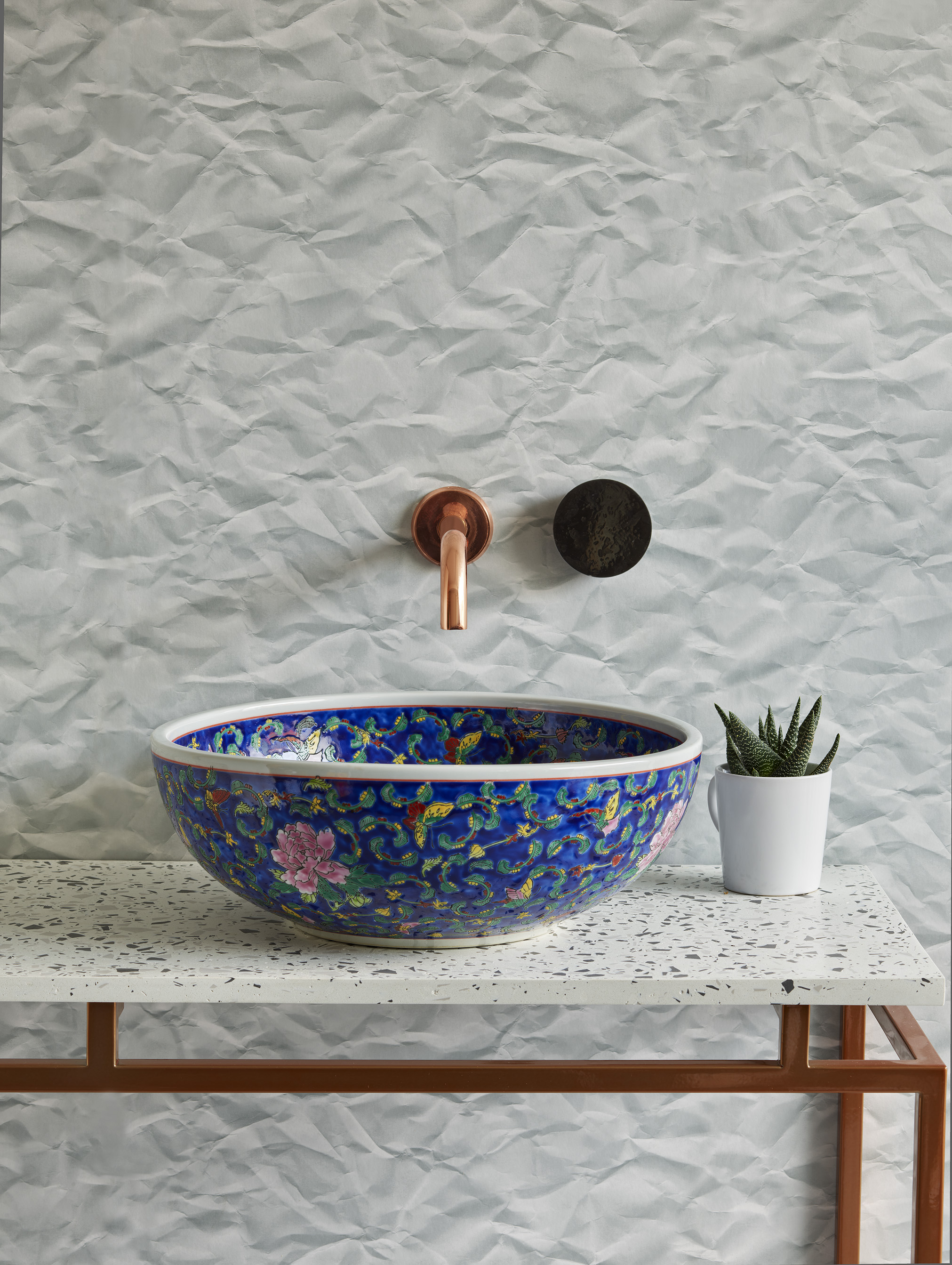 the glaze - Handmade by skilled craftsmen using the finest quality porcelain, with unrivalled attention to detail, each basin from the exceptional collection is finished and glazed by hand, meaning each design has its own unique character. Produced using one of two techniques, the 'under the glaze' approach, where the pattern is applied to the clay, then glazed and fired, or the 'over the glaze' technique, where clay washbasins are glazed and fired, the pattern is then applied and followed by a further two firings to ensure paint durability and an exquisite finish, the magnificent range is sure to bring a bathroom to life.