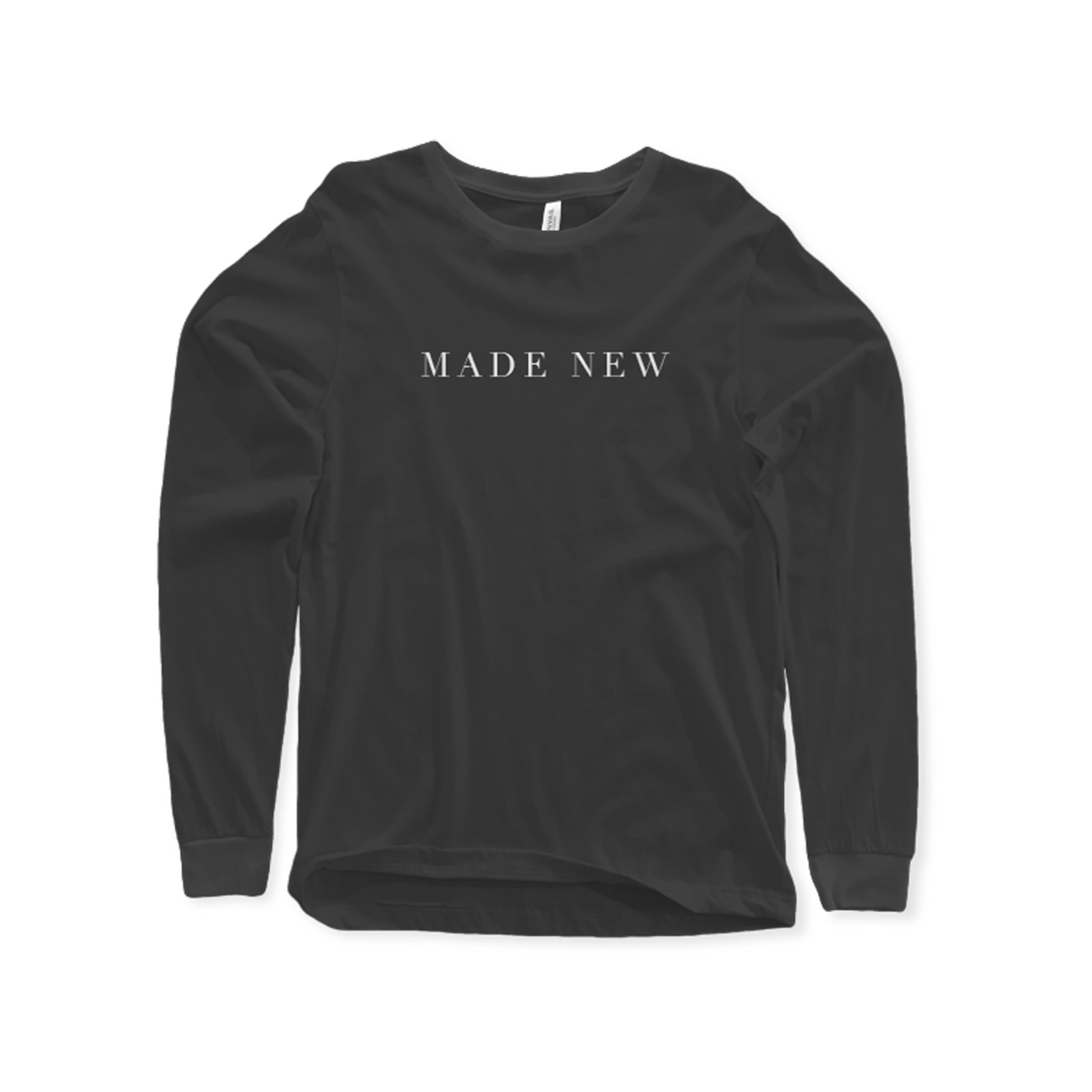 MADE NEW Long Sleeve Shirt    $20.00   Our Made New shirt is printed on a Black Comfort Colors shirt. This cozy long sleeve t‑shirt feels like you've owned it for years! Great pigment‑dyed color selection gives your group a classic cool look that will last. The run big/true to size.