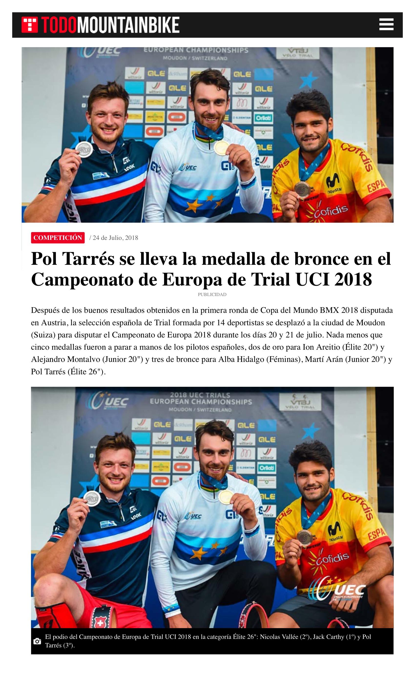 2018-7-28 Pol Tarrés se lleva la medalla de bronce en el Campeonato de Europa de Trial UCI 2018 5.jpeg