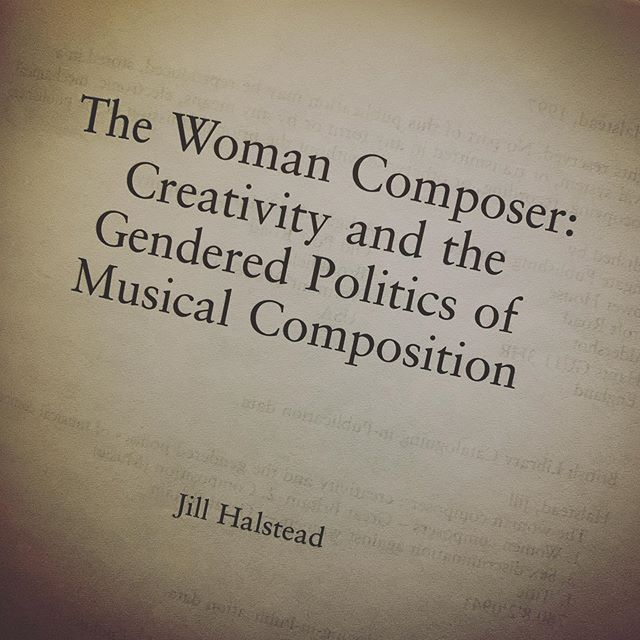Um hi hello Everyone go read this book. It should be required in all undergraduate music history courses. Thank you for coming to my Ted Talk.  #musicology #womenaregreatcomposers #jillhalstead #musichistory #feministmusicology