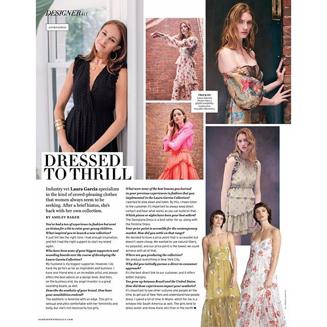 """Dressed to Thrill"" is right Thank you @dailyfrontrow 😘"