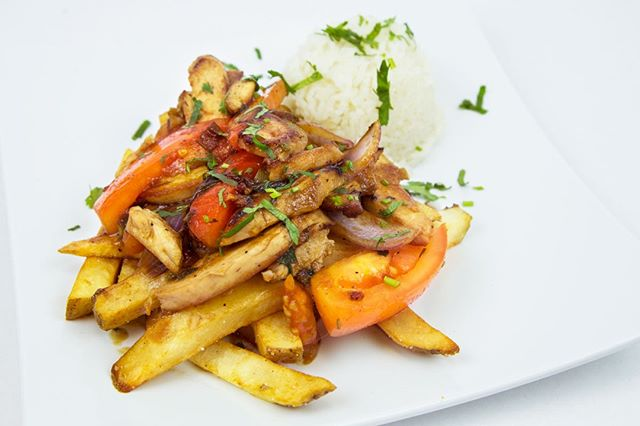 🤤We've got you covered this Monday for lunch. Our Pollo Saltado is on special with a side and a drink for only $8.99.  #lunchisserved