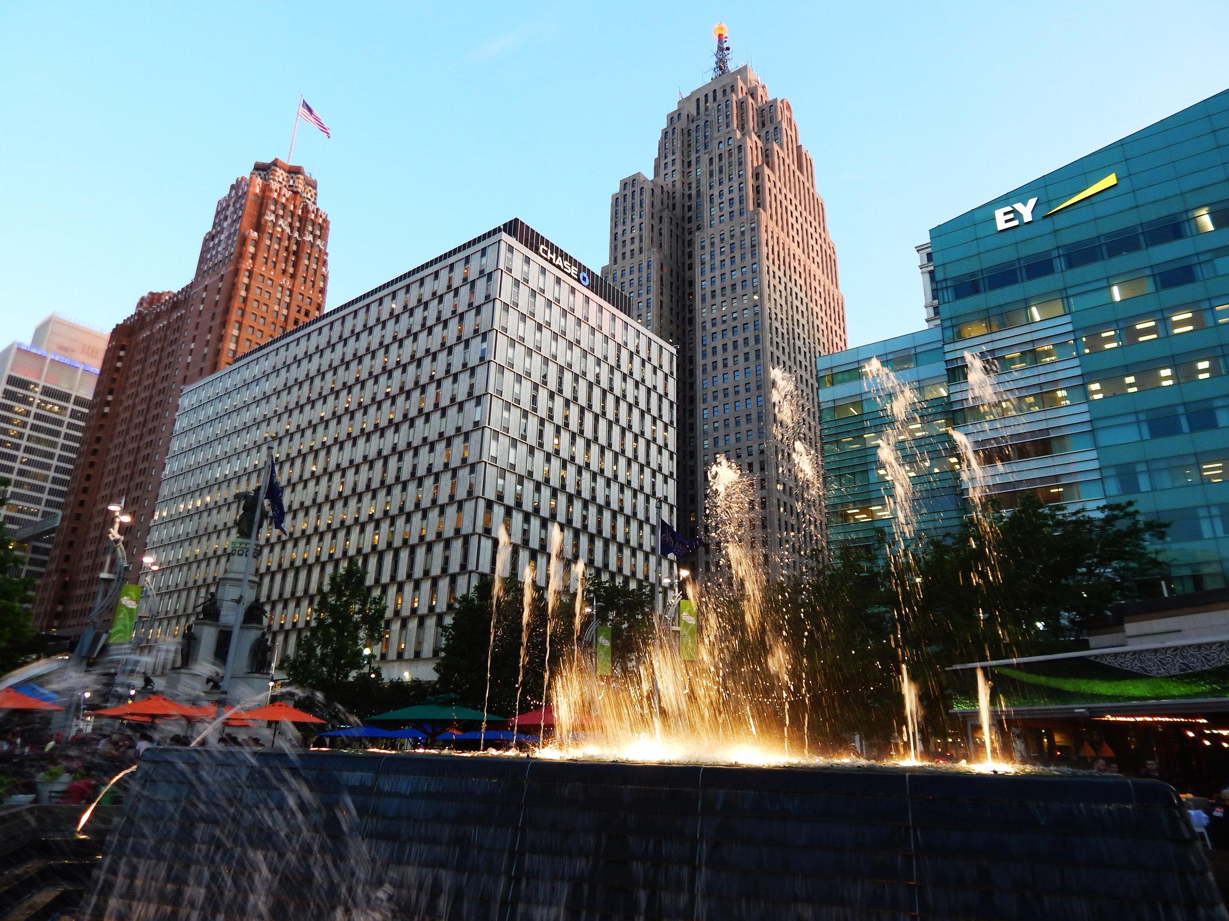 Detroit Downtown Architecture
