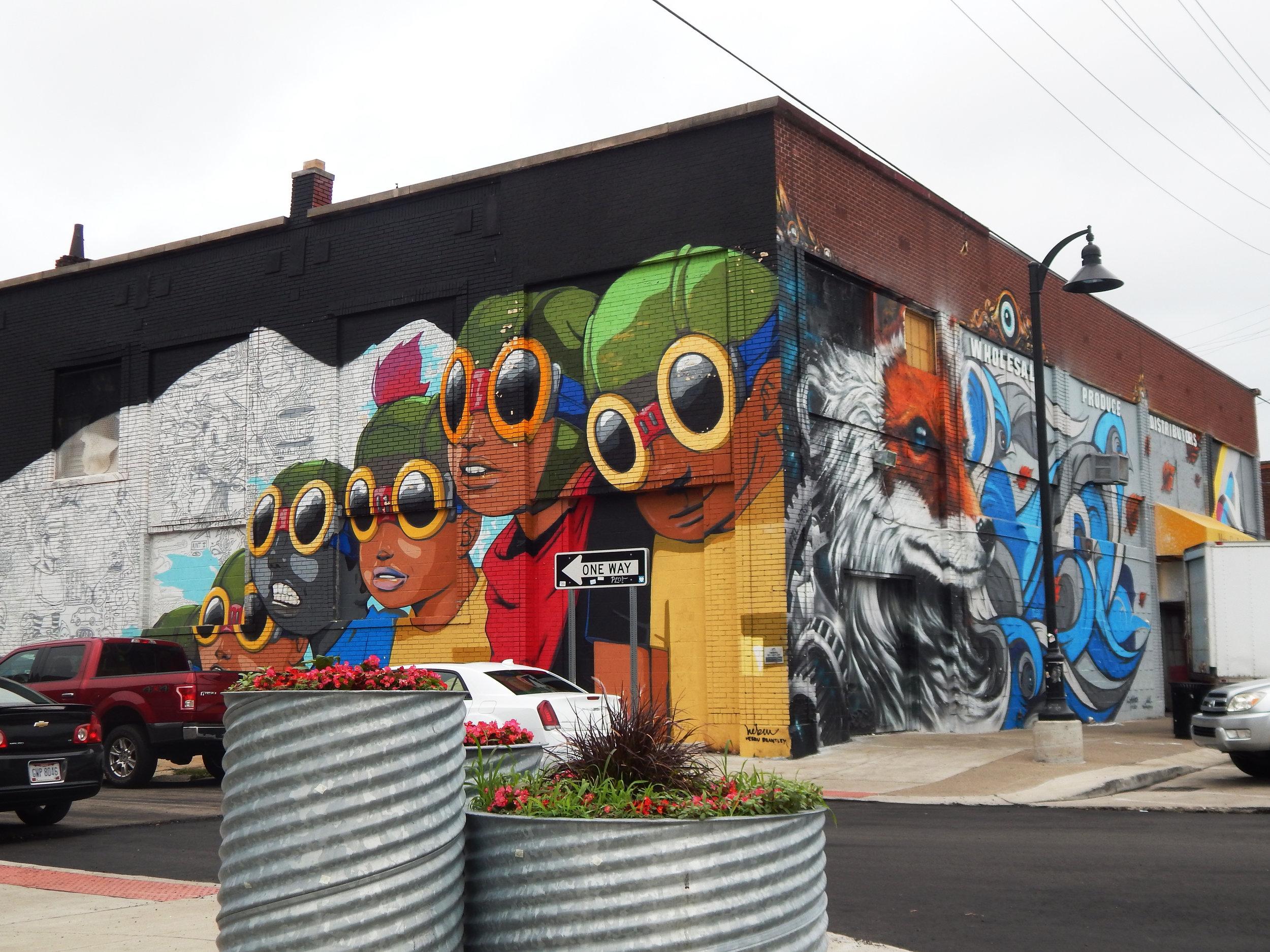 Detroit Public Street Art Mural Graffiti Murals in the Market