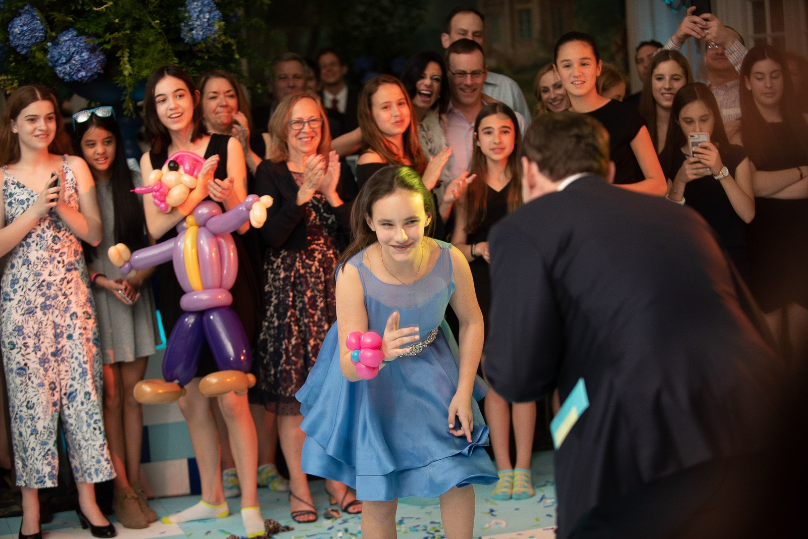 Bat mitzvah hora dancing