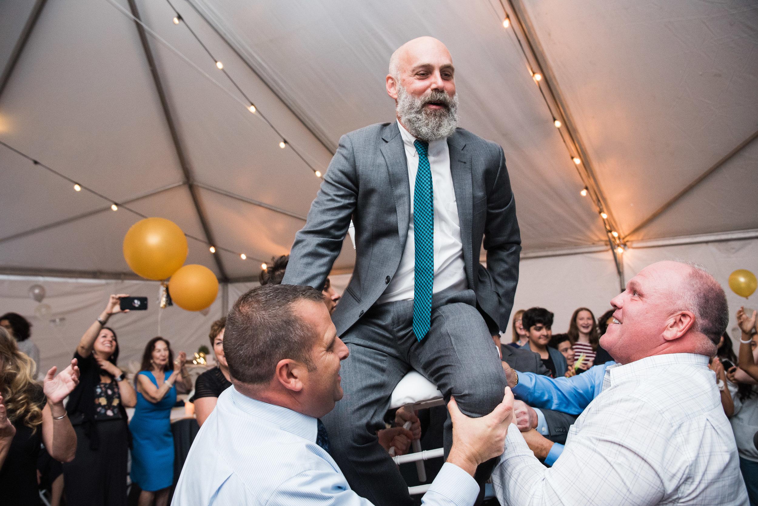 Hora chair dance/Bar mitzvah photography