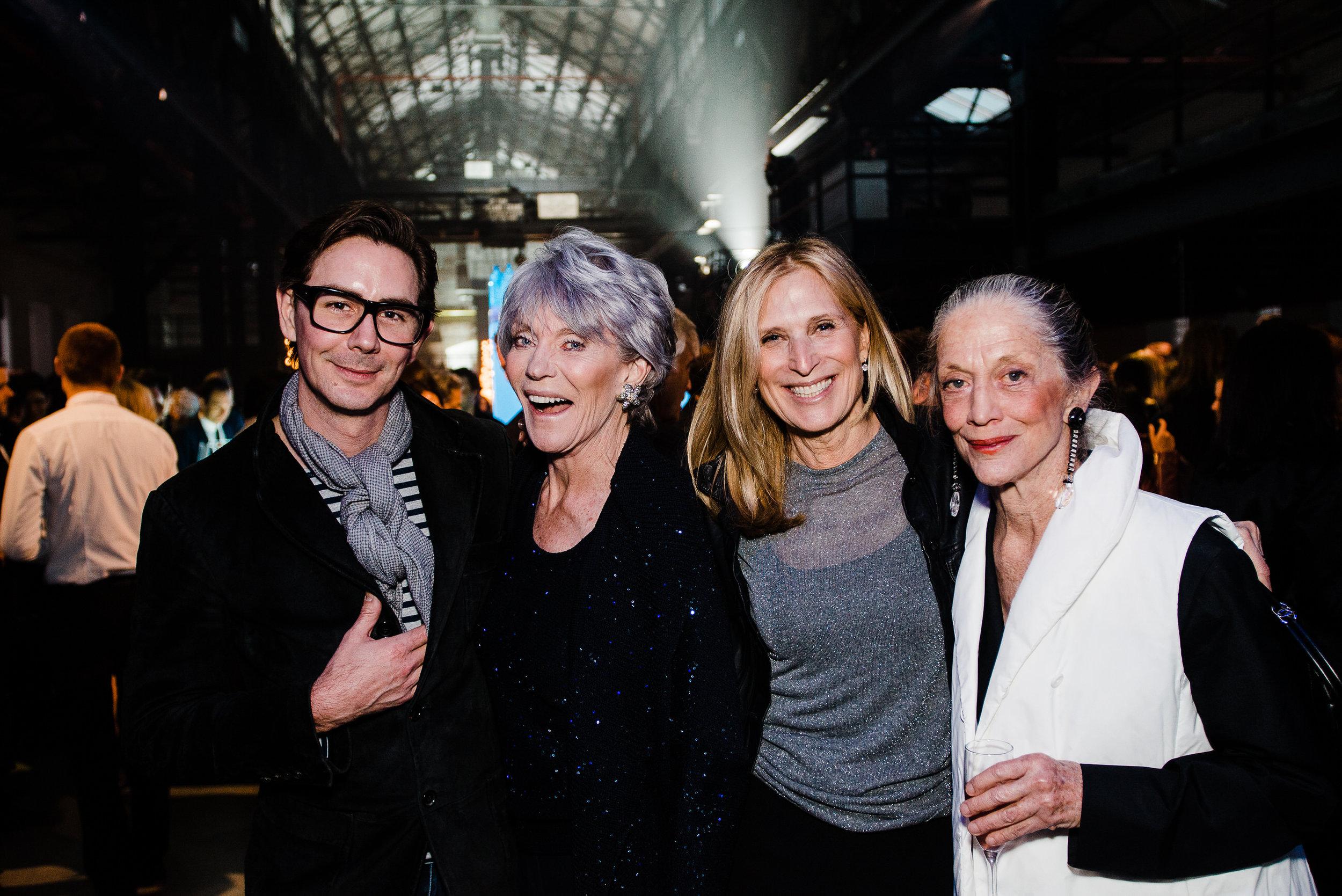 Susan Calhoun, Mayer Prince, Suzanne Cochran (9176999579) and Tim Rogers at Creativetime Gala at Brooklyn Navy Yards