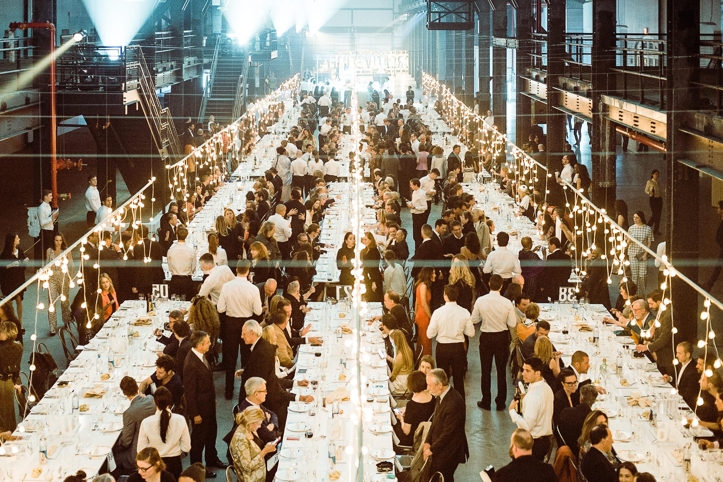 Dinner at Creativetime Gala at Brooklyn Navy Yards