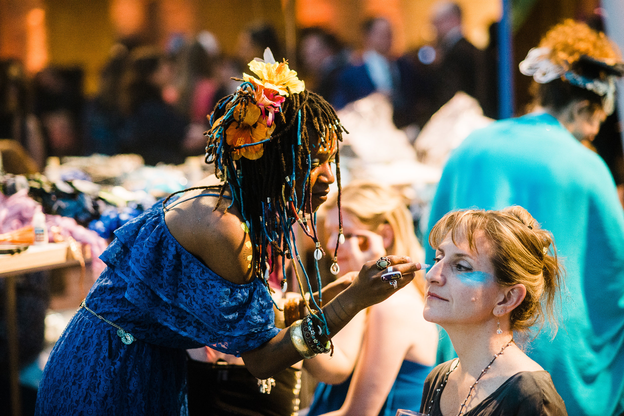 The Brooklyn Artists Ball at Brooklyn Museum 2017.The Brooklyn Artists Ball at Brooklyn Museum 2017. A pop-up of artist Swoon's Pearly's Beauty Shop;