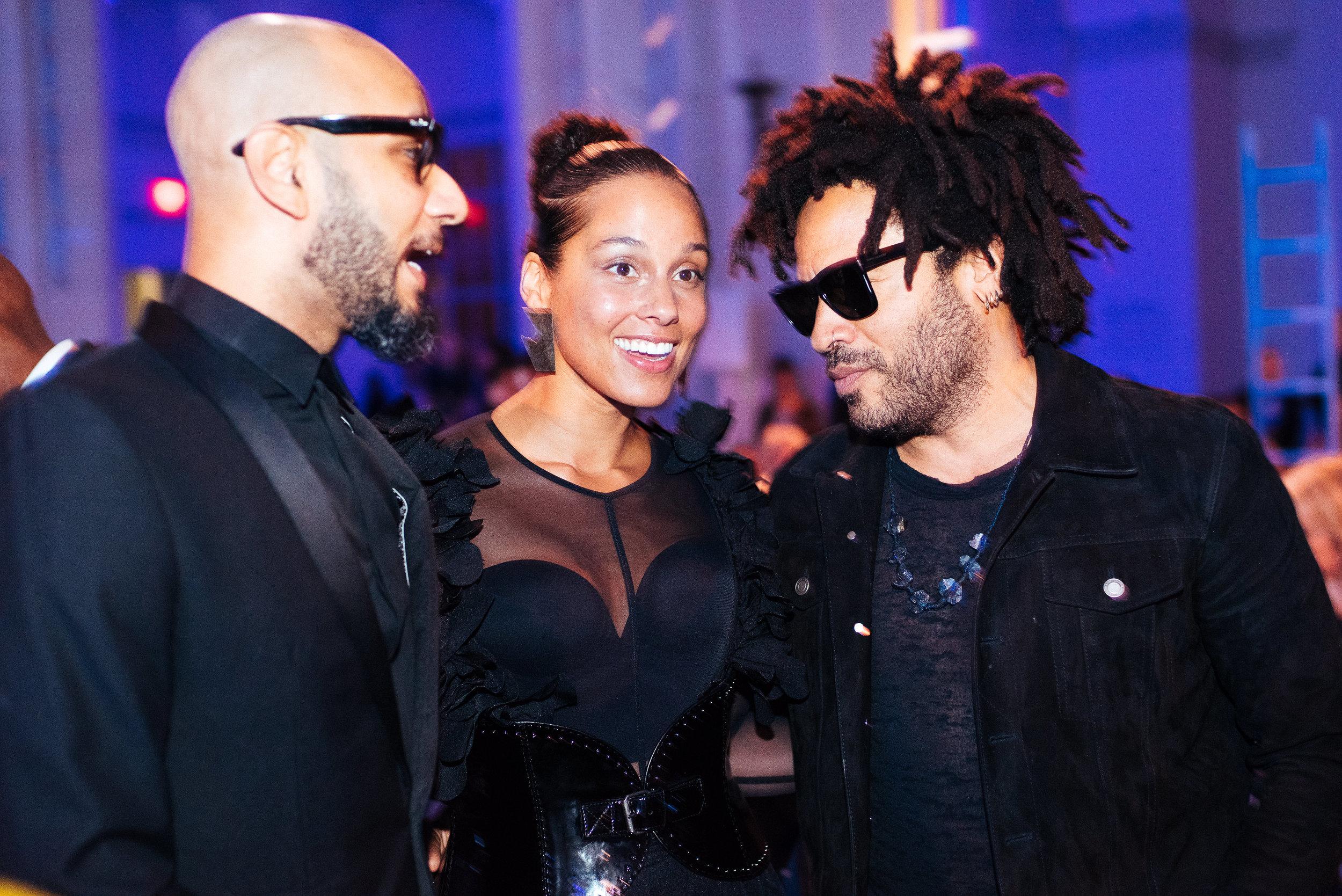 The Brooklyn Artists Ball at Brooklyn Museum 2017. Swizz Beats, Alicia Keys and Lenny Kravitz