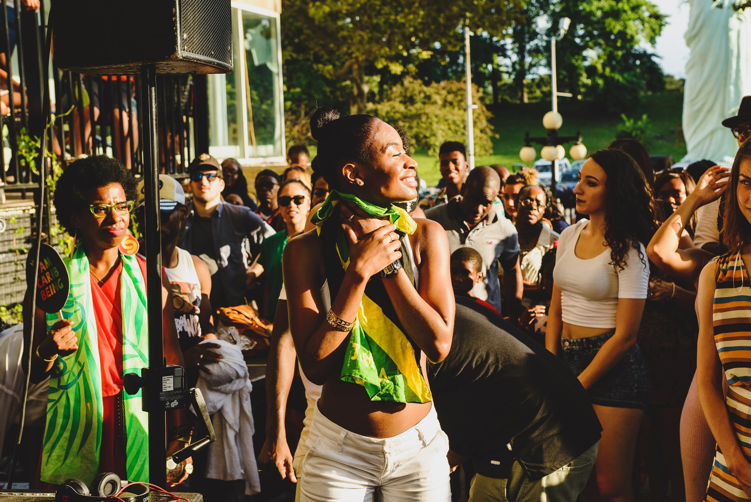 Dancehall dancer Nelly Danca at Brooklyn Musuem's CaribBEING Target First Saturday