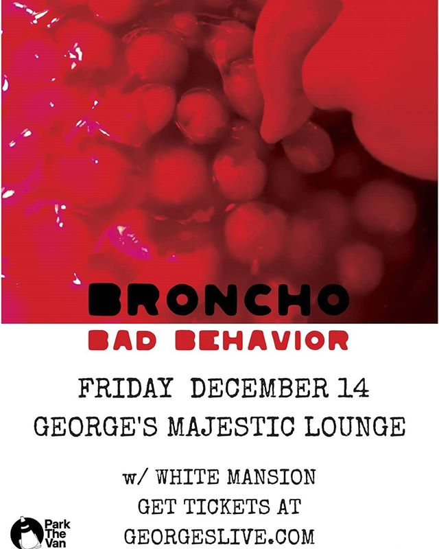 We are absolutely pumped to open for one of our favorite bands...BRONCHO! #whitemansion