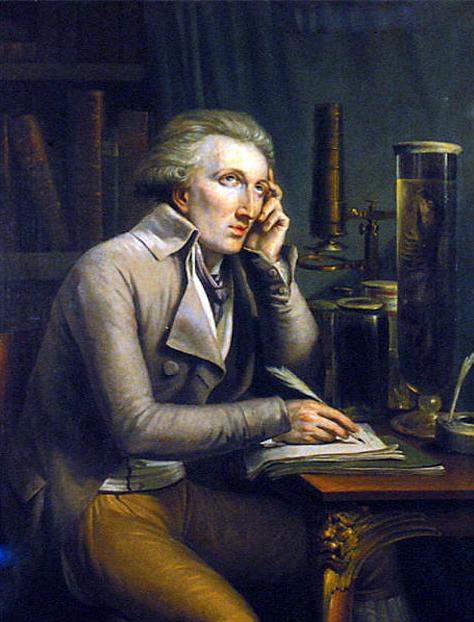Georges Cuvier, sans mutton chops. Oil painting by Mathieu-Ignace van Brée (1773-1839), 1798 Muséum national d'histoire naturelle, bibliotèque central. From http://www.lewis-clark.org/article/2750 .