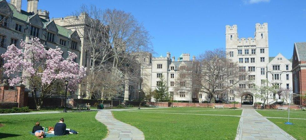 An image of the eponymous Silliman College courtyard at Yale University (image copyright Yale).