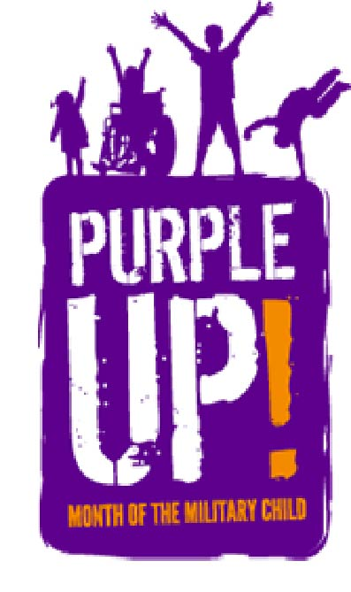 Fridays in April - Wear your purple and show support for our military children! By wearing purple, individuals show support for the strength, sacrifices, and contributions of military connect children.