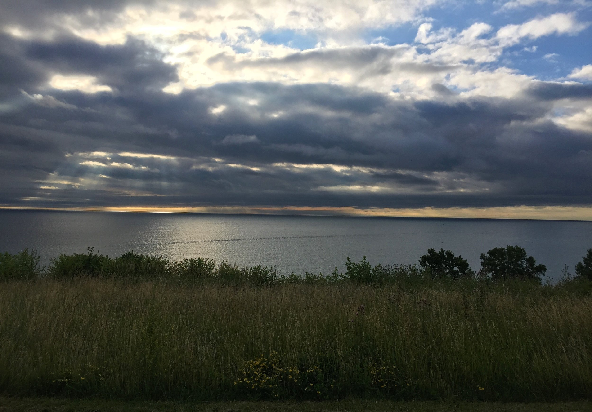HERE'S A BEAUTIFUL PICTURE OF LAKE MICHIGAN FOR YOUR TROUBLE.