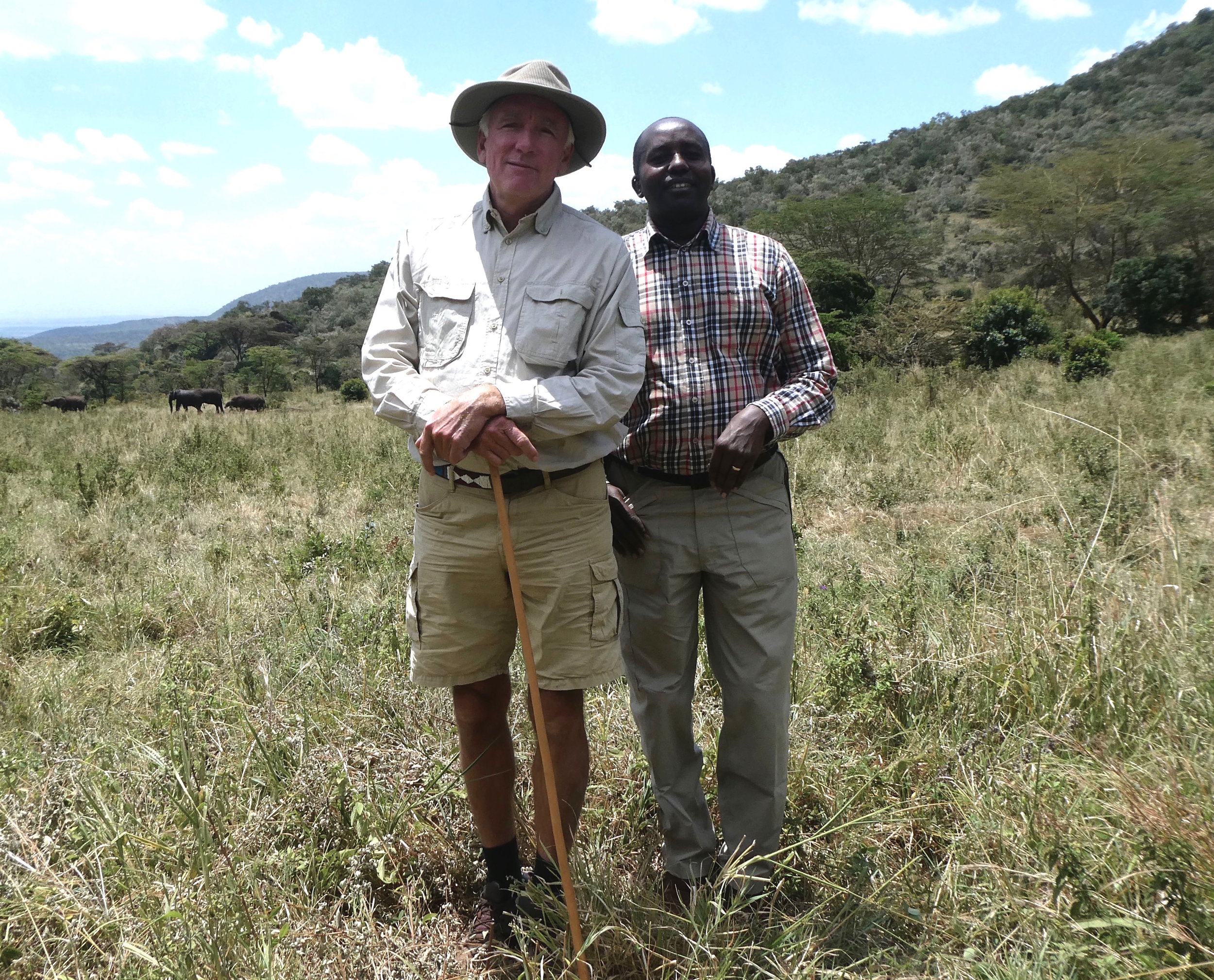 Founder Karl Von Heland with his founding Masai Partner Rimoine Ole Kararei