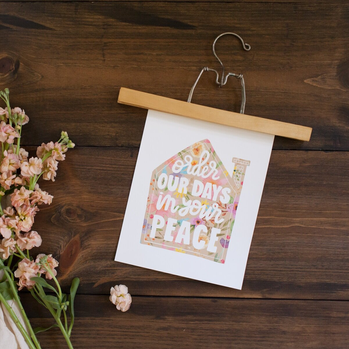 """As a new day dawns and you fall to your knees, a simple prayer echoes on your lips… """"Lord, this day belongs to you. Please, order my day in your peace.""""  """"Order Our Days In Your Peace Print"""""""